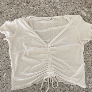 white  t-shirt with bow